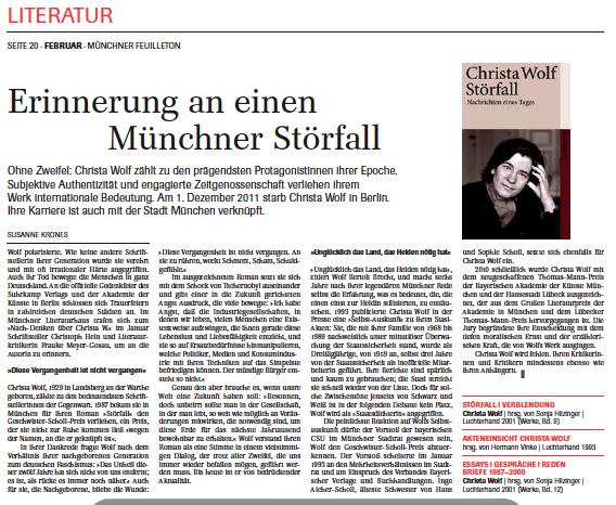 Susanne Krones über Christa Wolf